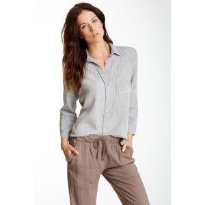 Cloth & Stone | Grey Shirt Tail Button Down Shirt